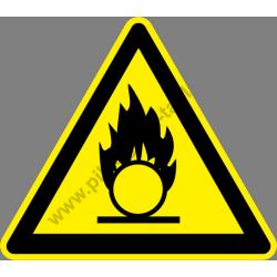 Oxidáló anyag figyelmeztető piktogram matrica