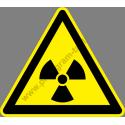 Radioaktív anyag figyelmeztető piktogram matrica