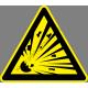 Robbanás veszély figyelmeztető piktogram matrica