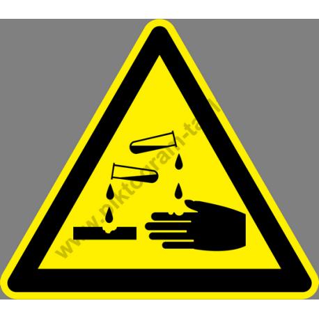 Savveszély figyelmeztető piktogram matrica