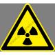 Sugárzásveszély figyelmeztető piktogram matrica