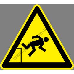 Zuhanásveszély figyelmeztető piktogram matrica