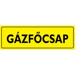 Gázfőcsap piktogram tábla