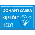 Dohányzásra kijelölt hely munkavédelmi piktogram tábla
