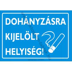 Dohányzásra kijelölt helyiség piktogram tábla