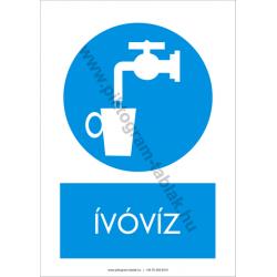 Ivóvíz munkavédelmi piktogram tábla