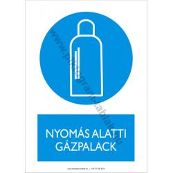 Nyomás alatti gázpalack munkavédelmi piktogram tábla