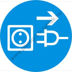 A készülék nyitás előtt áramtalanítandó rendelkező piktogram matrica