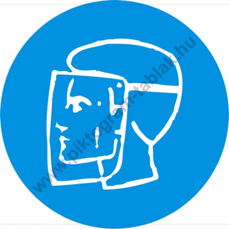Arcvédő használata kötelező rendelkező piktogram matrica