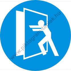 Az ajtó zárva tartandó rendelkező piktogram matrica
