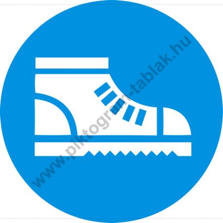 Biztonsági betétes cipő használata kötelező rendelkező piktogram matrica