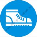 Biztonsági betétes cipő használata kötelező munkavédelmi piktogram matrica