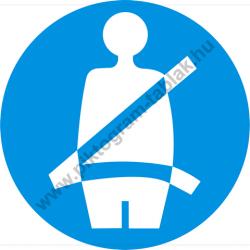 Biztonsági öv használata kötelező munkavédelmi piktogram matrica
