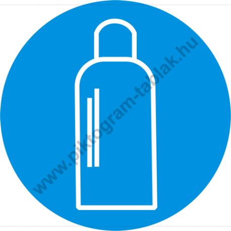 Gázpalack rendelkező piktogram matrica