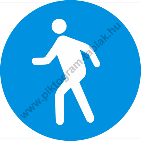 Gyalogosok részére rendelkező piktogram matrica