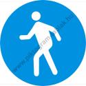 Gyalogosok részére munkavédelmi piktogram matrica