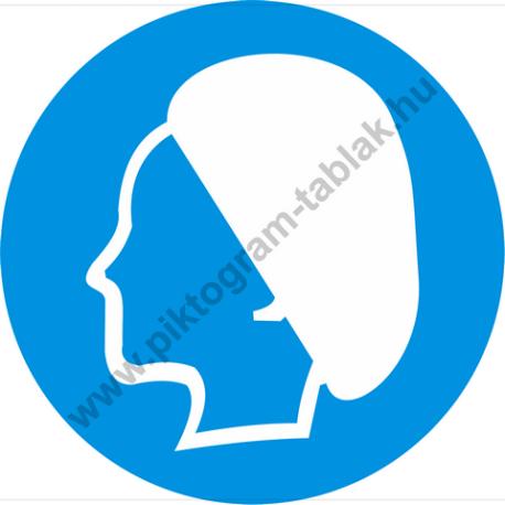 Hajsapka használata kötelező rendelkező piktogram matrica