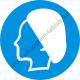 Hajvédő használata kötelező rendelkező piktogram matrica