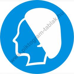 Hajvédő használata kötelező munkavédelmi piktogram matrica