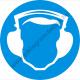 Hallásvédő használata kötelező rendelkező piktogram matrica