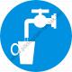 Ivóvíz rendelkező piktogram matrica