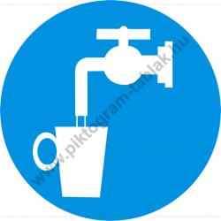Ivóvíz munkavédelmi piktogram matrica