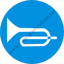 Jeladó munkavédelmi piktogram matrica