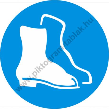 Lábvédő használata kötelező rendelkező piktogram matrica