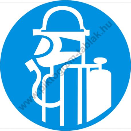 Légzésvédő használata kötelező rendelkező piktogram matrica