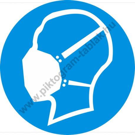 Porvédő maszk rendelkező piktogram matrica