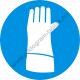 Pulzusvédő védőkesztyű használata kötelező rendelkező piktogram matrica