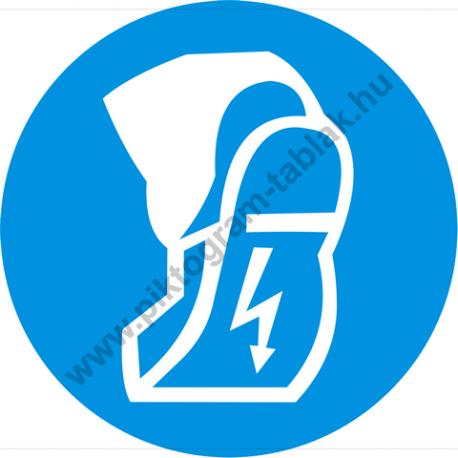 Védtalpú cipő használata kötelező rendelkező piktogram matrica