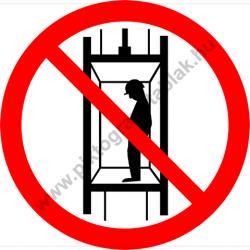 A fülkébe lépni tilos tiltó munkavédelmi piktogram matrica