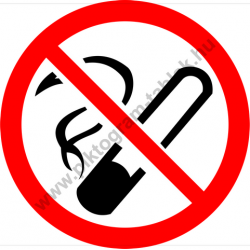 Dohányozni tilos tiltó munkavédelmi piktogram matrica