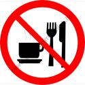 Étkezni, inni tilos tiltó munkavédelmi piktogram matrica
