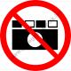 Fényképezni tilos tiltó piktogram matrica