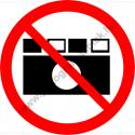 Fényképezni tilos tiltó munkavédelmi piktogram matrica