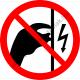 Feszültség alatt megérinteni tilos tiltó piktogram matrica
