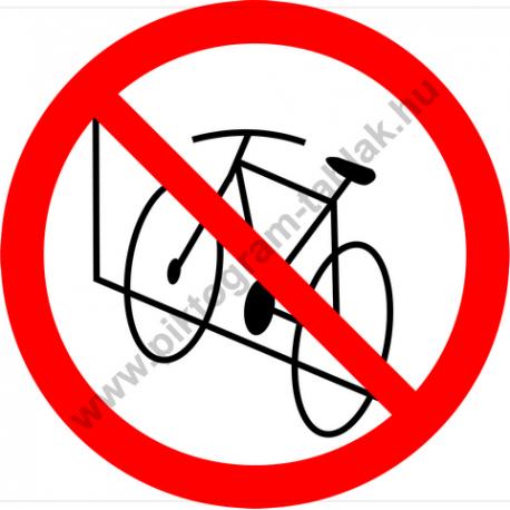 Kerékpárt a falnak támasztani tilos tiltó piktogram matrica