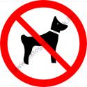 Kutyát bevinni tilos tiltó munkavédelmi piktogram matrica