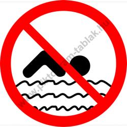 Mélyvíz fürödni tilos tiltó munkavédelmi piktogram matrica