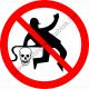 Munkaruhát sűrített levegővel tisztítani tilos tiltó piktogram matrica