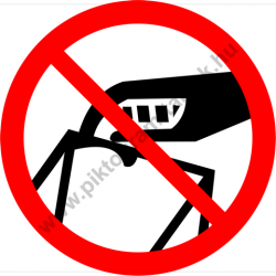 Nem hulladéktároló tiltó munkavédelmi piktogram matrica