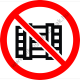 Rakodni tilos tiltó piktogram matrica