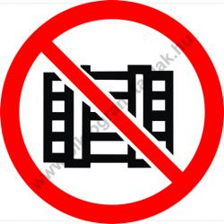 Rakodni tilos tiltó munkavédelmi piktogram matrica