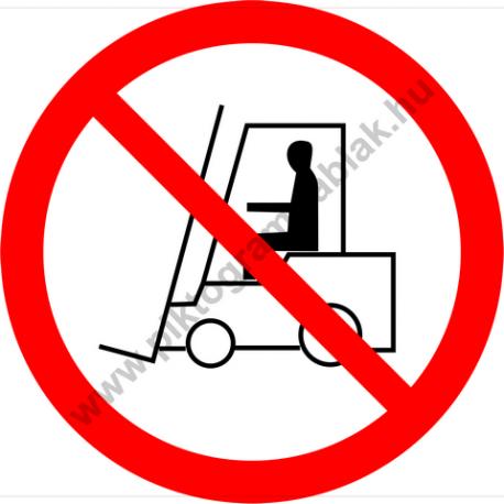 Szállítóeszközzel behajtani tilos tiltó piktogram matrica