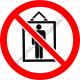 Teherfelvonó, személyszállítás tilos tiltó piktogram matrica
