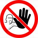Tilos tiltó munkavédelmi piktogram matrica