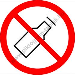 Üveget kidobni tilos tiltó munkavédelmi piktogram matrica