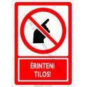 Érinteni tilos tiltó munkavédelmi piktogram tábla